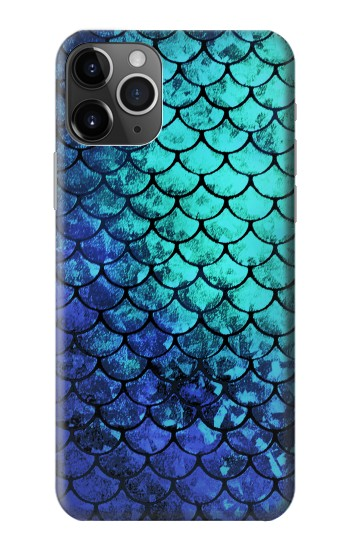 Printed Green Mermaid Fish Scale iPhone 11 Pro Case