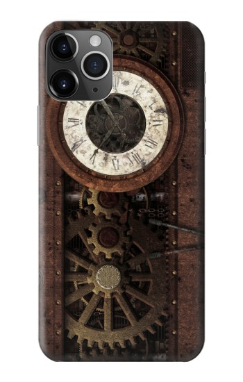 Printed Steampunk Clock Gears iPhone 11 Pro Case