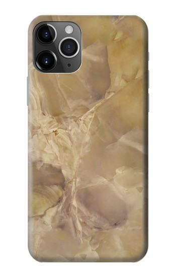 Printed Yellow Marble Stone iPhone 11 Pro Case
