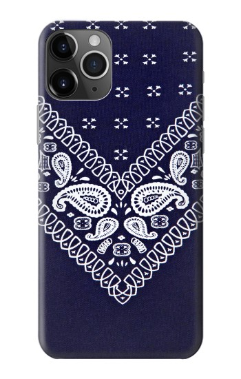 Printed Navy Blue Bandana Pattern iPhone 11 Pro Case