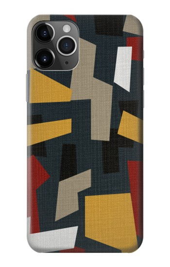 Printed Abstract Fabric Texture iPhone 11 Pro Case