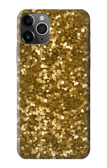 Printed Gold Glitter Graphic Print iPhone 11 Pro Case
