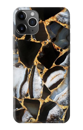 Printed Gold Marble Graphic Print iPhone 11 Pro Case