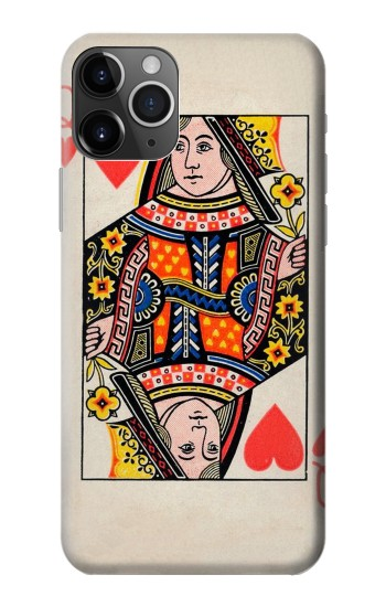 Printed Queen Hearts Card iPhone 11 Pro Case