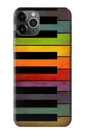 Printed Colorful Piano iPhone 11 Pro Case