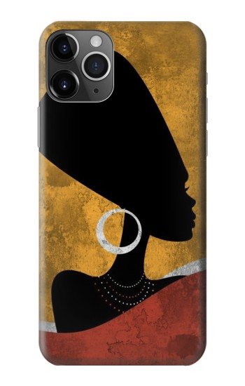 Printed African Queen Nefertiti Silhouette iPhone 11 Pro Case