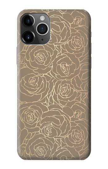 Printed Gold Rose Pattern iPhone 11 Pro Case
