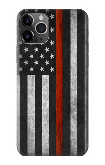 Printed Firefighter Thin Red Line Flag iPhone 11 Pro Case
