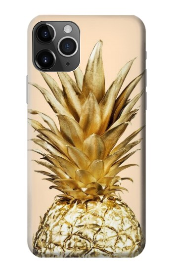 Printed Gold Pineapple iPhone 11 Pro Case
