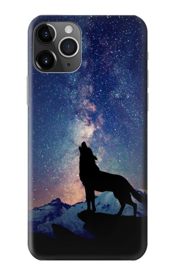 Printed Wolf Howling Million Star iPhone 11 Pro Case