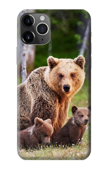 Printed Bear Family iPhone 11 Pro Case