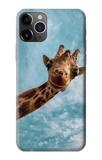Printed Cute Smile Giraffe iPhone 11 Pro Case