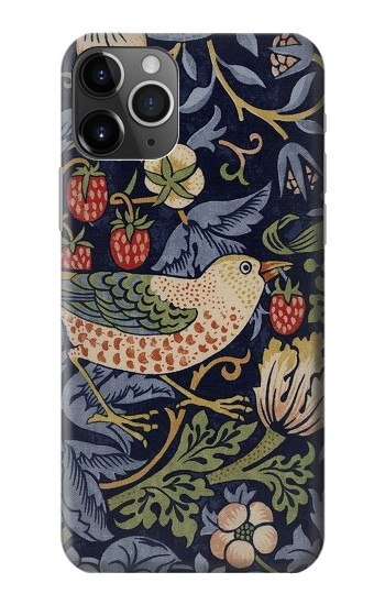 Printed William Morris Strawberry Thief Fabric iPhone 11 Pro Case