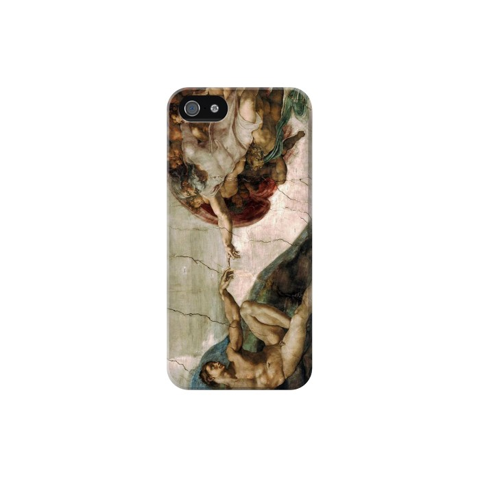 Printed Michelangelo The creation of Adam Iphone 5C Case