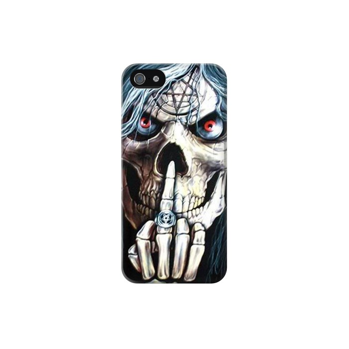 Printed Skull Pentagram Iphone 5C Case
