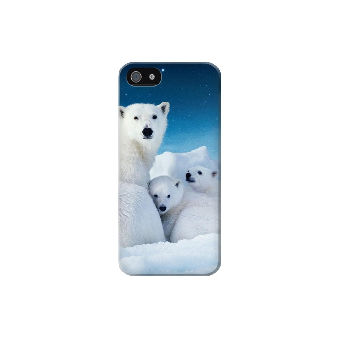Printed Polar Bear Family Arctic Iphone 5C Case