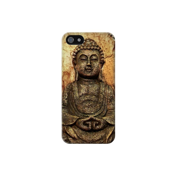 Printed Buddha Rock Carving Iphone 5C Case