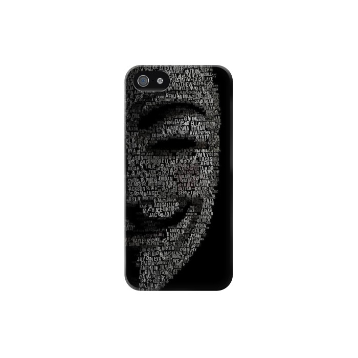 Printed V Mask Guy Fawkes Anonymous Iphone 5C Case