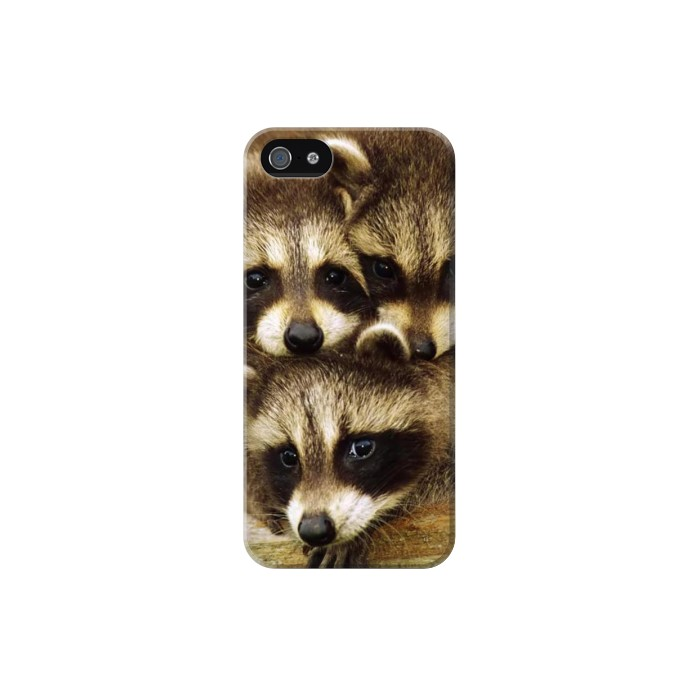 Printed Baby Raccoons Iphone 5C Case
