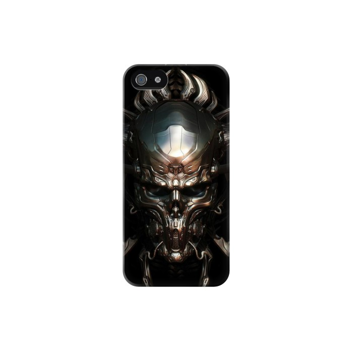Printed Hardcore Insanity Metal Skull Iphone 5C Case