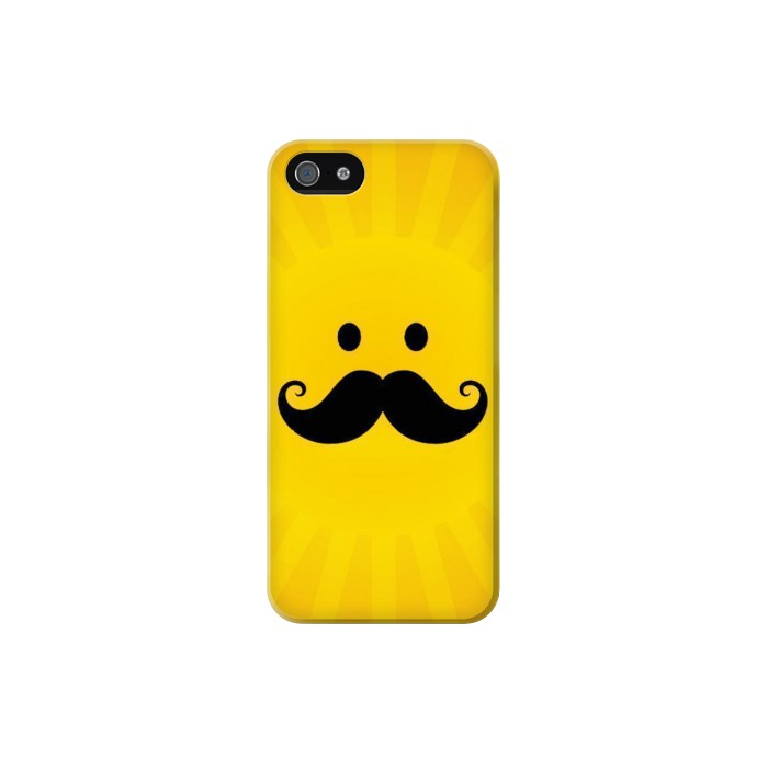 Printed Yellow Mustache Sun Iphone 5C Case
