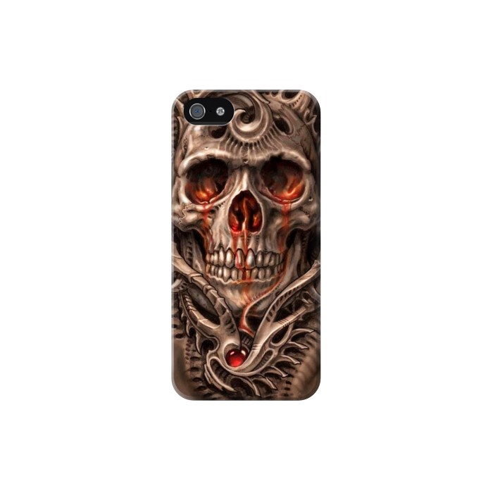 Printed Skull Blood Tattoo Iphone 5C Case