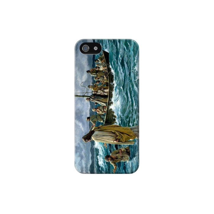 Printed Jesus Walk on The Sea Iphone 5C Case