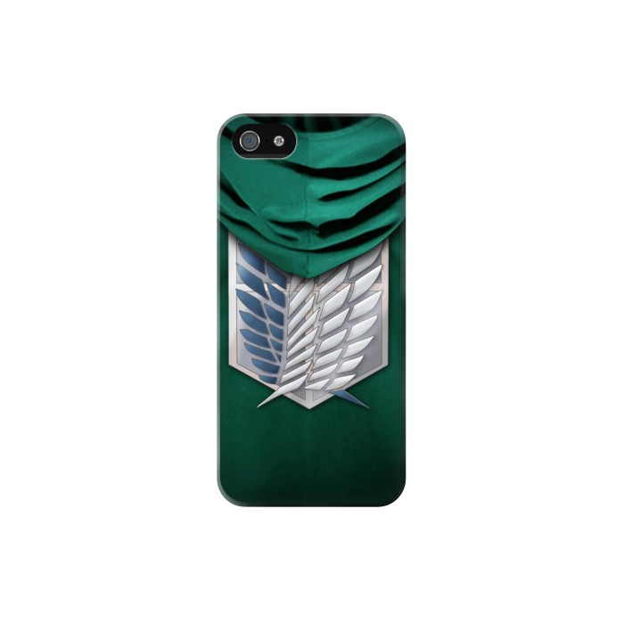 Printed Attack on Titan Scouting Legion Rivaille Green Cloak Iphone 5C Case