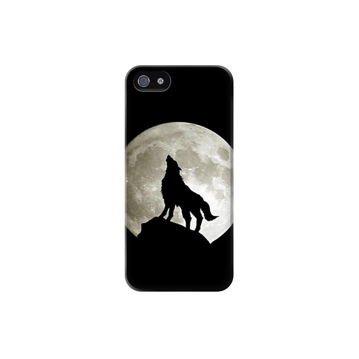 Printed Wolf Howling at The Moon Iphone 5C Case