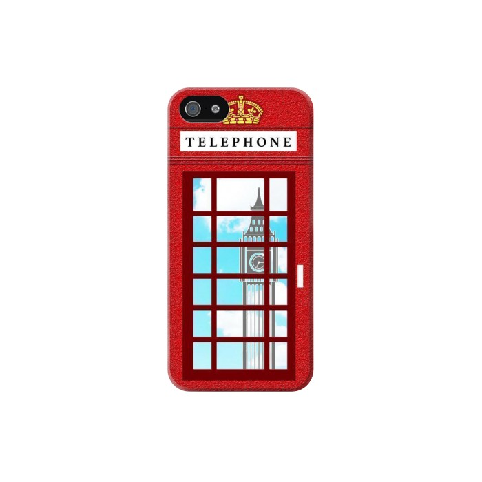 Printed England Classic British Telephone Box Minimalist Iphone 5C Case