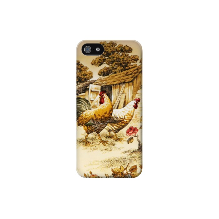 Printed French Country Chicken Iphone 5C Case