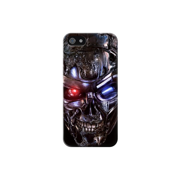Printed Terminator Robot Skull Iphone 5C Case