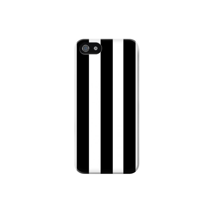Printed Black and White Vertical Stripes Iphone 5C Case