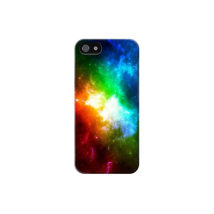 Printed Colorful Rainbow Space Galaxy Iphone 5C Case