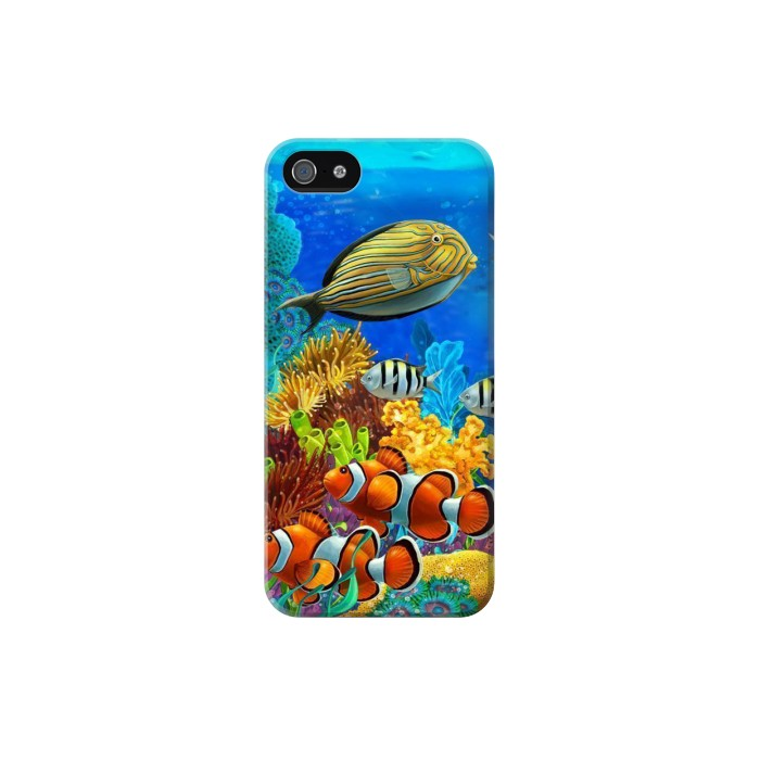 Printed Sea Seabed Fish Corals Underwater Ocean Iphone 5C Case