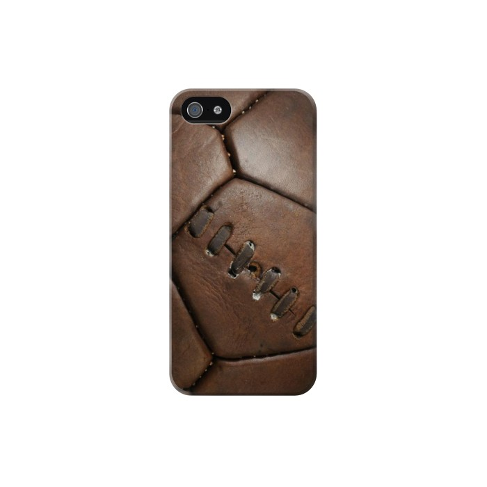Printed Vintage Genuine Leather Soccer Football Iphone 5C Case