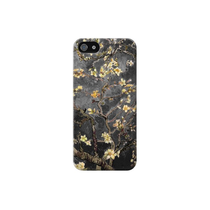 Printed Black Blossoming Almond Tree Van Gogh Iphone 5C Case
