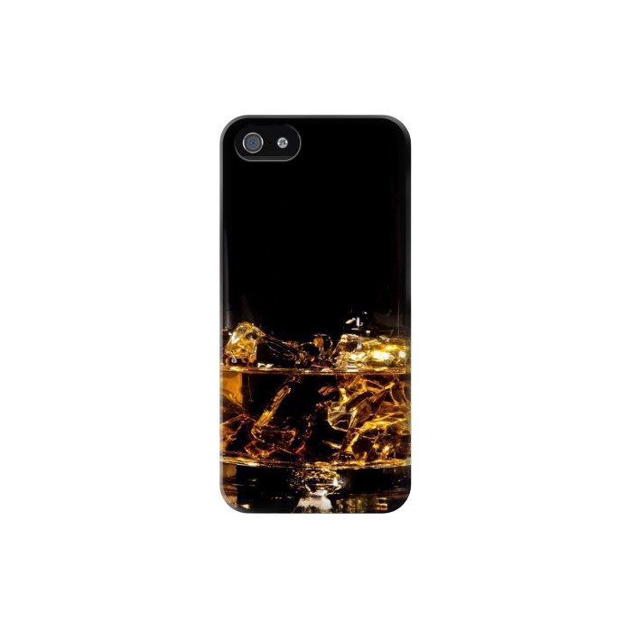 Printed Ice Whiskey Glass Iphone 5C Case