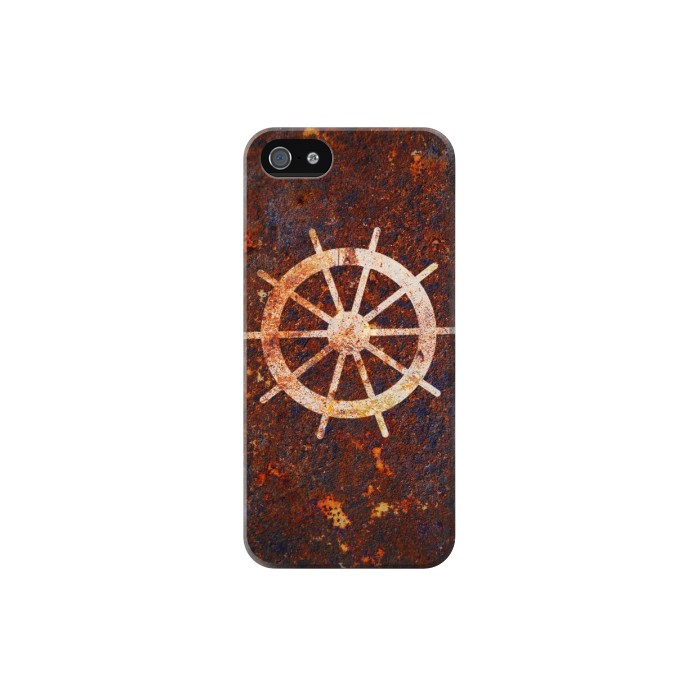 Printed Ship Wheel Rusty Texture Iphone 5C Case