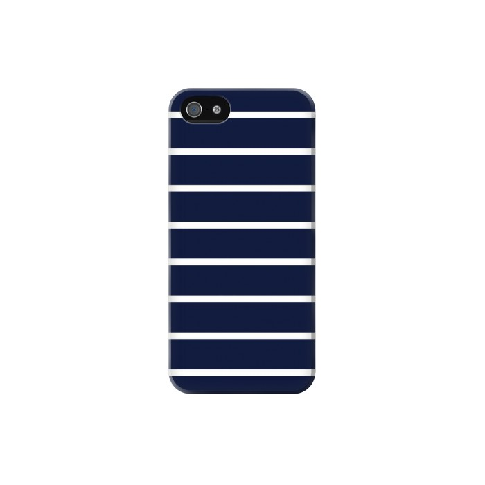 Printed Navy White Striped Iphone 5C Case