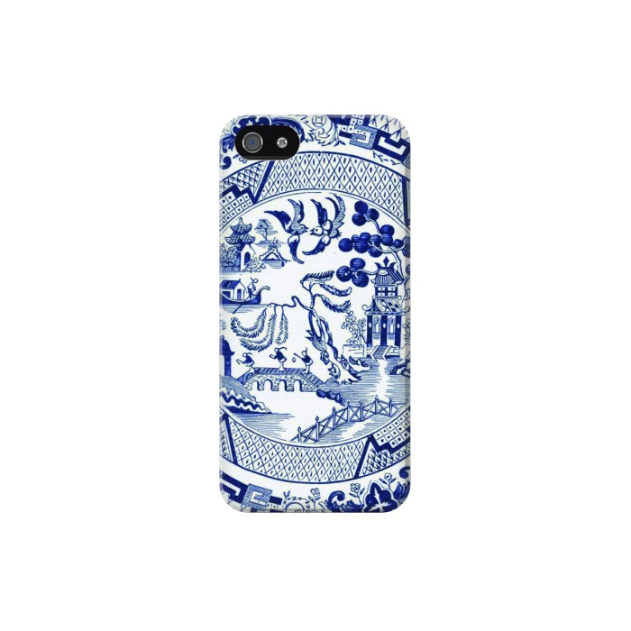 Printed Willow Pattern Illustration Iphone 5C Case