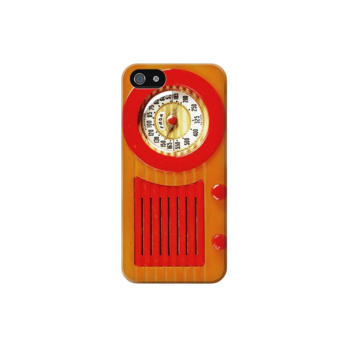 Printed Vintage Bakelite Radio Orange Iphone 5C Case