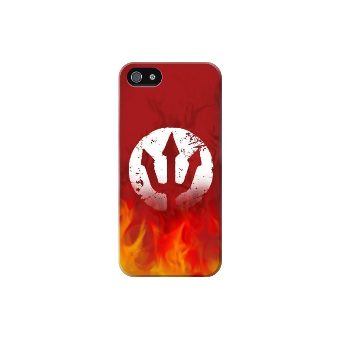 Printed Fire Red Devil Symbol Iphone 5C Case