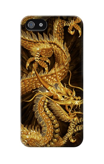 Printed Chinese Gold Dragon Printed Iphone 5C Case