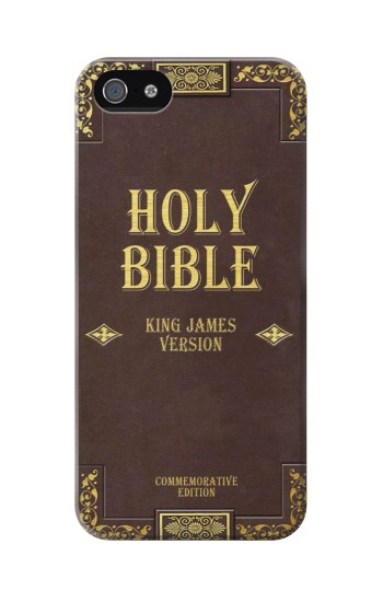 Printed Holy Bible Cover King James Version Iphone 5C Case
