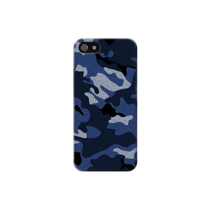 Printed Navy Blue Camouflage Iphone 5C Case