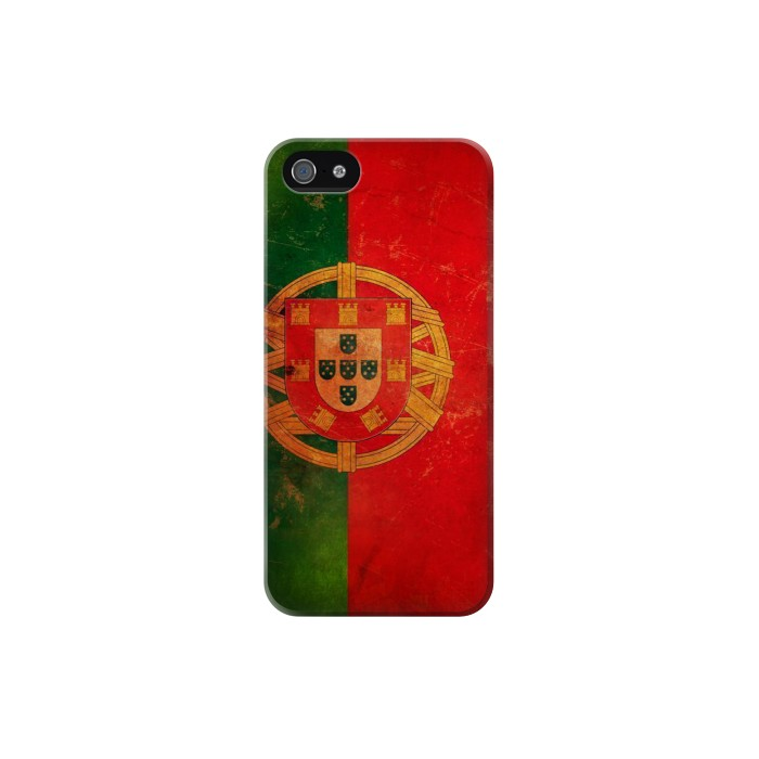 Printed Vintage Portugal Flag Iphone 5C Case