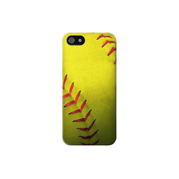 Printed Yellow Softball Ball Iphone 5C Case