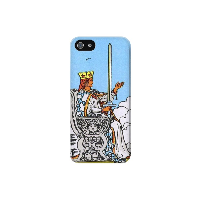 Printed Tarot Card Queen of Swords Iphone 5C Case