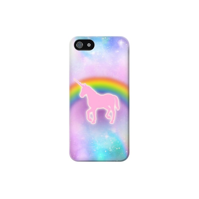 Printed Rainbow Unicorn Pastel Sky Iphone 5C Case